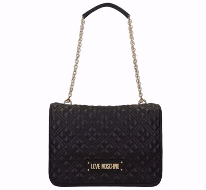 Love Moschino bag Quilted Nappa M black, Love Moscino borsa a spalla M Quilted Nappa nero