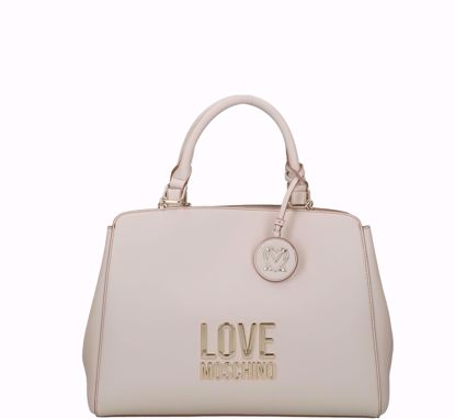 Love Moschino bag Bonded double portability ivory, Love Moschino borsa a mano Bonded avorio