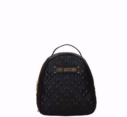 Love Moschino zaino M Quilted Nappa nero, Love Moschino backpack Quilted Nappa black