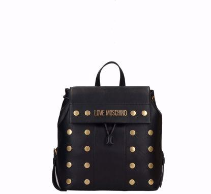 Love Moschino zaino Gold Studs nero, Love Moschino backpack Gold Studs Black