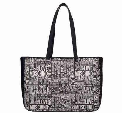 Love Moschino shopping bag Fantasy black, Love Moschino borsa shopping Fantasy black
