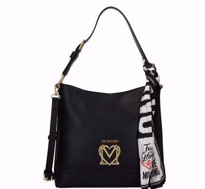 Love Moschino borsa a secchiello Logo nero, Love Moschino bucket bag Logo black