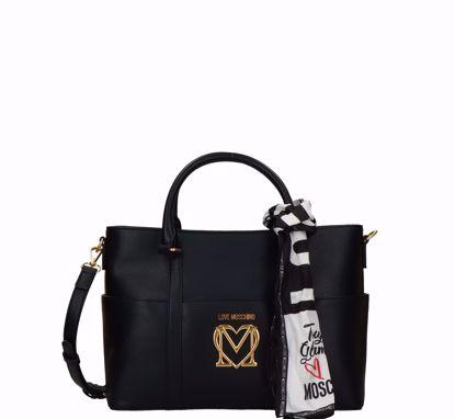 Love Moschino borsa a mano Logo M nero, Love Moschino bag Logo M black