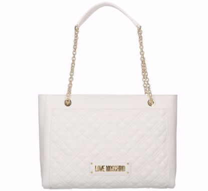 Love Moschino shopping bag M Quilted Nappa white, Love Moschino borsa shopping Quilted Nappa bianco