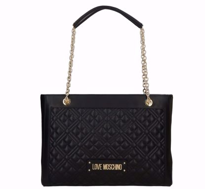 0Love Moschino borsa shopping Quilted Nappa nero, Love Moschino shopping bag M Quilted Nappa black