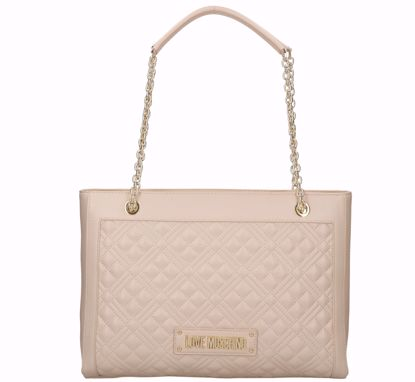 Love Moschino borsa shopping Quilted Nappa naturale, Love Moschino shopping bag M Quilted Nappa natural