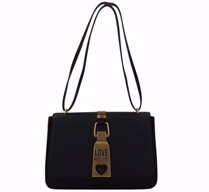 Love Moschino borsa a spalla Lucchetto nero, Love Moschino bag Padlock black