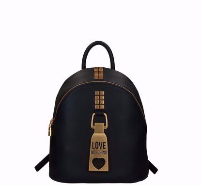 Love Moschino backpack Padlock black, Love Moschino zaino Lucchetto nero