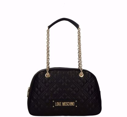 Love Moschino bag M Quilted Nappa black, Love Moschino borsa a spalla Quilted Nappa nero