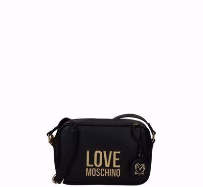 Love Moschino crossbody bag Bonded black, Love Moschino borsa a tracolla Bonded nero