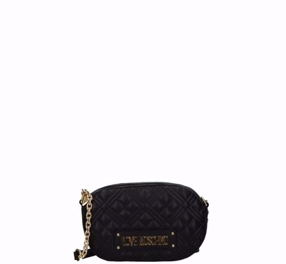 Love Moschino crossbody bag Quilted Nappa oval black, Love Moschino borsa a tracolla Quilted Nappa ovale nero