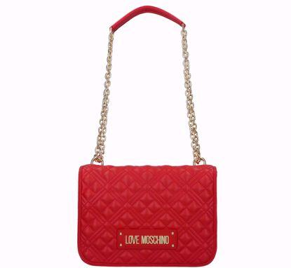 Love Moschino borsa a spalla Quilted nappa rosso, Love Moschino bag Quilted Nappa red