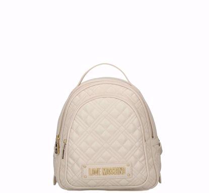 Love Moschino zaino S Quilted Nappa avorio, Love Moschino backpack S Quilted Nappa ivory