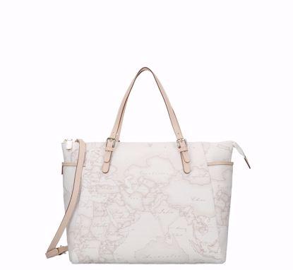 Alviero Martini Handbag M with shoulder strap Geo white, Alviero Martini Borsa a mano M con tracolla Geo White
