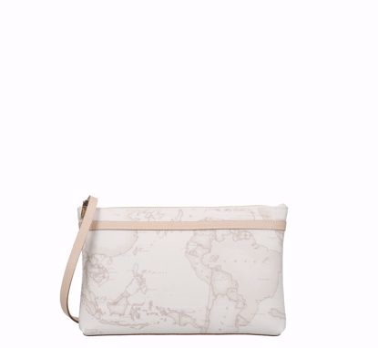 Picture of Crossbody bag M flat 1A Classe Contemporary  Geo White