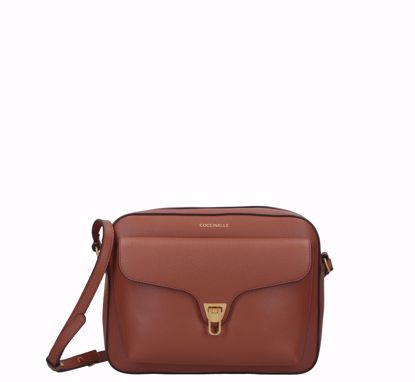 Coccinelle borsa a tracolla large Beat Soft cinnamon, Coccinelle crossbody bag large Beat Soft cinnamon