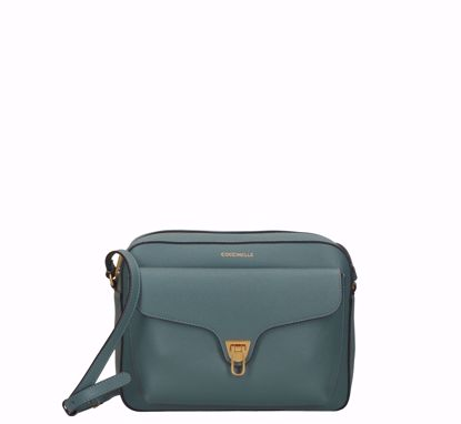 Coccinelle borsa a tracolla large Beat Soft, Coccinelle crossbody bag large Beat Soft shark grey