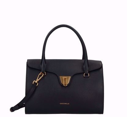 Coccinelle bag Beat Soft black, Coccinelle borsa a mano Beat Soft nero