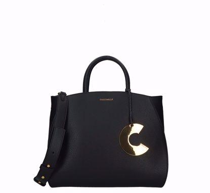 Coccinelle borsa a mano Concrete S nero, Coccinelle bag Concrete S black