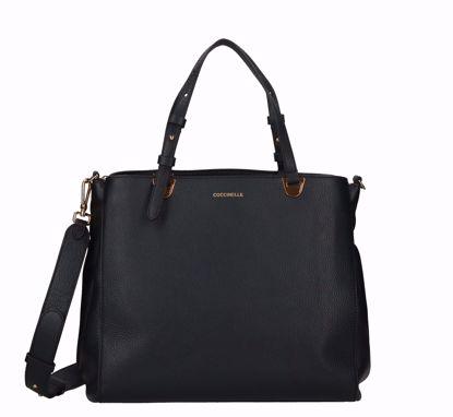Coccinelle bag Lea black, Coccinelle borsa a mano Lea nero