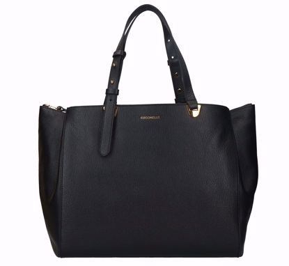Coccinelle borsa shopping Lea nero, Coccinelle shopping bag Lea black