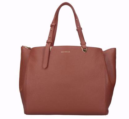 Coccinelle borsa shopping Lea cinnamon, Coccinelle shopping bag Lea cinnamon
