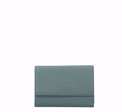 Coccinelle women's wallet Metallic Soft with flap shark grey, Coccinelle portafogli donna Metallic Soft con patella shark grey