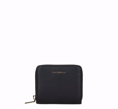 Coccinelle woman wallet S Metallic Soft black, Coccinelle portafogli donna S Metallic Soft nero