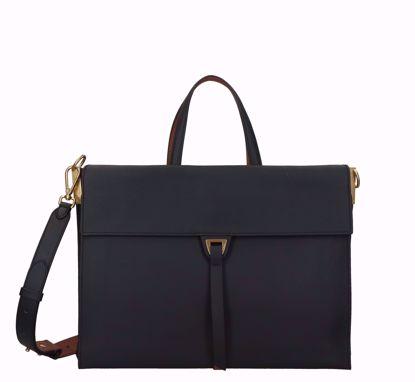 Coccinelle bag Louise M noir caramel, Coccinelle borsa a mano Louise noir caramel