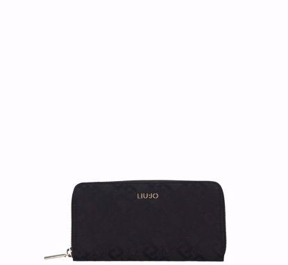 Liu Jo woman wallet XL Manhattan black, Liu Jo portafogli XL Manhattan nero
