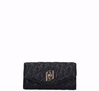 Liu Jo portafogli donna XL Piacente nero,  Liu Jo woman wallet XL Piacente black