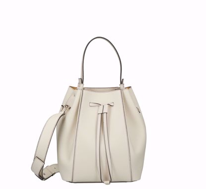 Furla bucket bag Miastella white cotton,  Furla borsa a secchiello Miastella white cotton