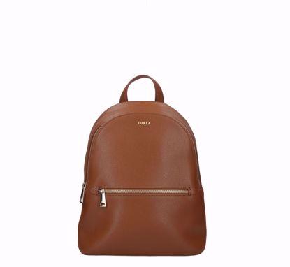 Furla backpack Libera cognac, Furla zaino Libera cognac
