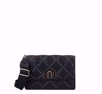Furla 1927 Soft crossbody bag black, Furla 1927 Soft borsa a tracolla nero