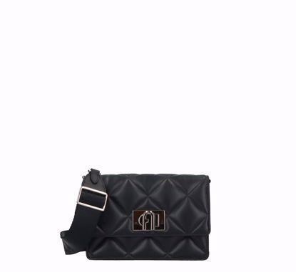 Furla 1927 Soft crossbody bag mini black, Furla 1927 Soft borsa a tracolla mini nero