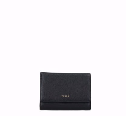 Furla portafogli donna con patella Babylon nero, Furla woman wallet with flap Babylon black