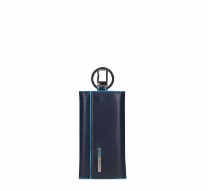 Piquadro portachiavi Blue Square blu, Piquadro keys holder Blue Square blue