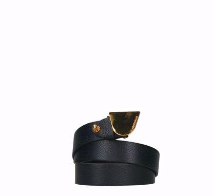 Coccinelle cintura donna Plettro Metal 95 cm nero, Coccinelle woman belt Plettro Metal 95 cm black