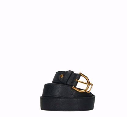 Coccinelle cintura donna Arlettis Buckle nero, Coccinelle woman belt Arlettis Buckle black