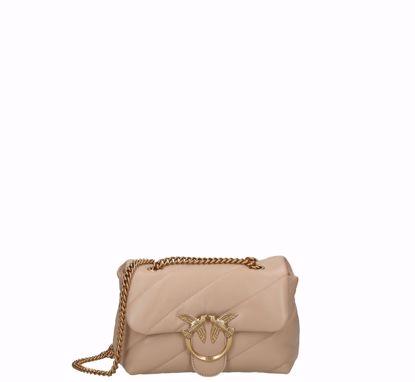 Pinko Mini Love Bag Puff Maxi Quilt beige