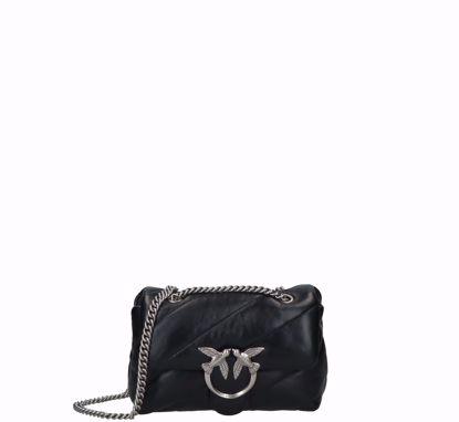 Pinko Mini Love Bag Puff Maxi Quilt black silver