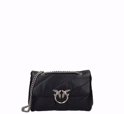 Pinko Love Bag Puff Maxi Quilt classic in nappa black silver