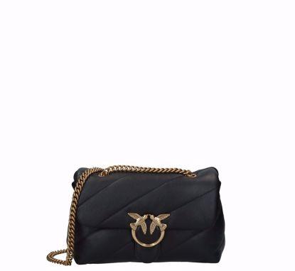 pinko Love Bag Puff Maxi Quilt Classic black gold