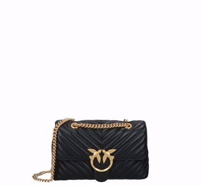 Pinko Love Bag Puff Lady V Quilt black gold