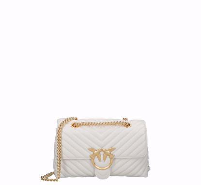 Pinko Love Bag Puff Lady V Quilt white gold