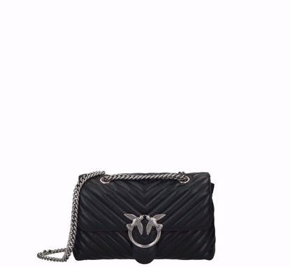 Pinko Love Bag Puff Lady V Quilt black silver