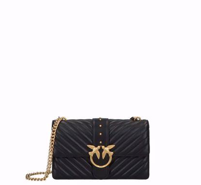 Love Bag Icon V Quilt Black gold