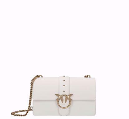 Pinko Love Bag Simply Icon white gold