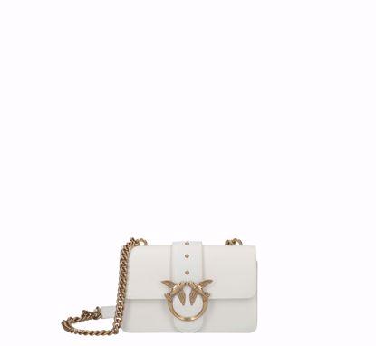 Pinko Mini Love Bag Icon Simply white gold