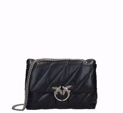 Pinko Big Love Bag Puff Maxi Quilt classic in nappa black silver
